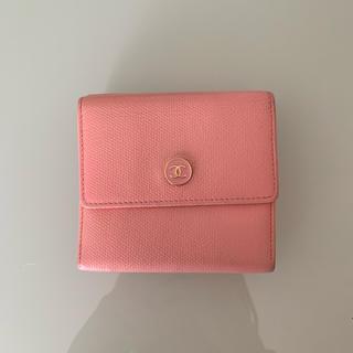 シャネル(CHANEL)の❤︎CHANEL シャネル ココ ピンク 折りたたみ財布❤︎(財布)