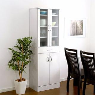 鏡面加工☆  キッチン 食器棚【180cm×60cm】(キッチン収納)