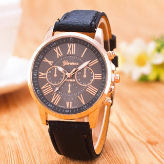 Geneva腕時計 ブラック watch-m-24-黒 (腕時計)