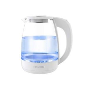 電気ケトル お湯沸かしポット 1.2L耐熱ガラス ワンタッチ (電気ケトル)