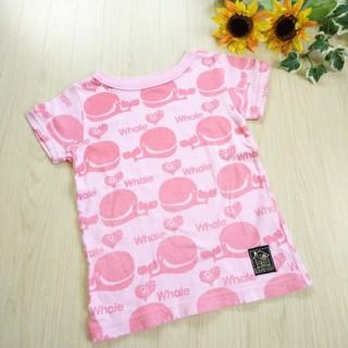 グラグラ(GrandGround)のSTORIES くじら Tシャツ ピンク 90㎝(Tシャツ/カットソー)