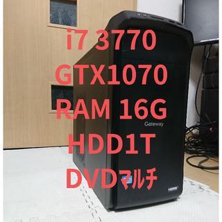 ゲーミングPC i7 3770/GTX1070/16G/HDD1T(デスクトップ型PC)