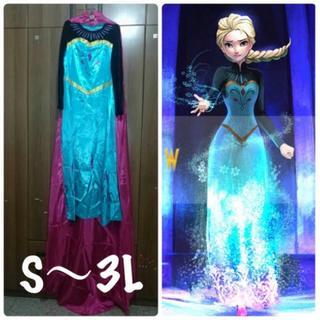 アナと雪の女王 戴冠式 エルサ ディズニープリンセス ドレス コスチューム 衣装(衣装)