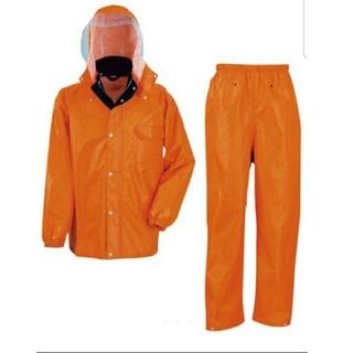 レインスーツ 4Lサイズ オレンジ 上下 セット カッパ レインコート(レインコート)