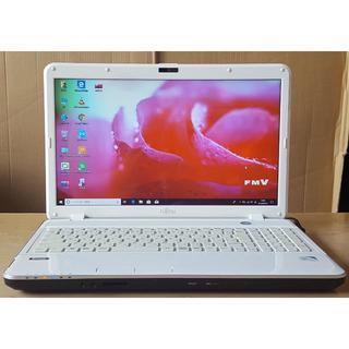 フジツウ(富士通)のWin10 AH33J/B820/4G/640G/DVD/WLAN/カメラ(ノートPC)