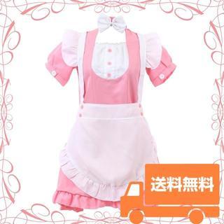 【新品】本格 コスプレ メイド服 コスチューム フリル Lサイズ(衣装一式)