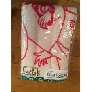 リトルミー(Little Me)のムーミン バスタオル 新品未使用 ミー スナフキン(タオル/バス用品)