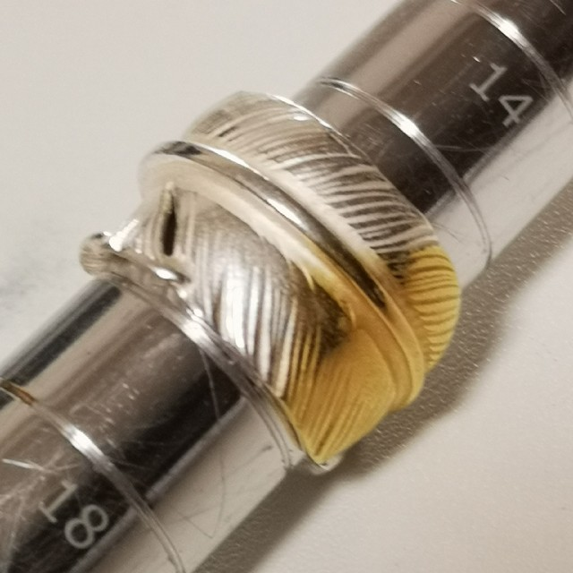 goro's(ゴローズ)の■ラクマ限定特価 未使用■ 先金特大フェザーリング 16号 (サイズ変更可能) メンズのアクセサリー(リング(指輪))の商品写真