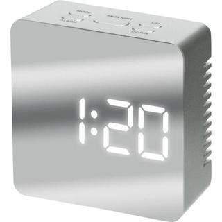 置時計 スクエアミラークロック シンプル 新品 送料込(置時計)