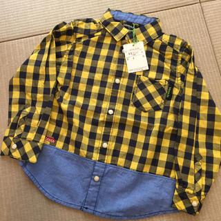 クレードスコープ(kladskap)のkladskap チェックシャツ 110(Tシャツ/カットソー)