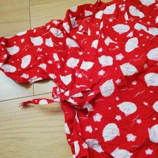 アカチャンホンポ(アカチャンホンポ)の浴衣 甚平 うさぎ 赤 80cm(甚平/浴衣)