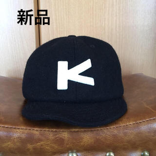 カブー(KAVU)の新品 kavu 黒 ウールベースボールキャップ カブー(キャップ)