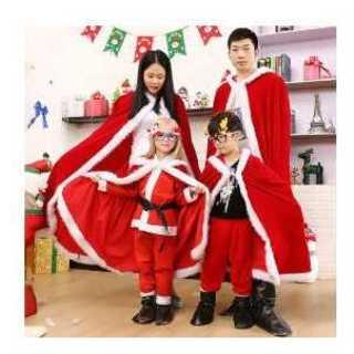 150cm クリスマス マント サンタクロース ケープ ポンチョ コスチューム(衣装)