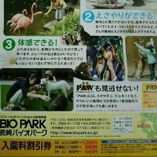 長崎バイオパーク 割引券(動物園)