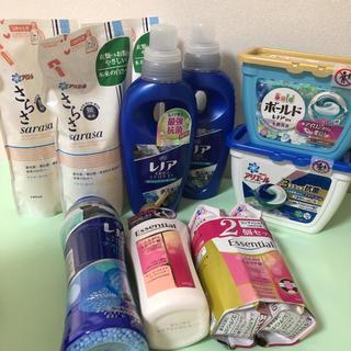 液体洗剤、ジェルボール、柔軟剤、コンディショナー(洗剤/柔軟剤)