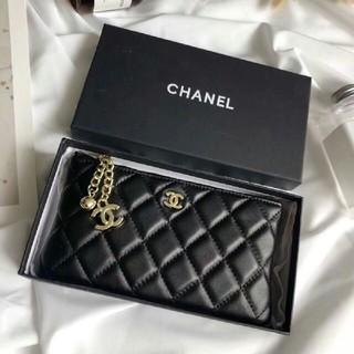 シャネル(CHANEL)のCHANEL 財布 レザー ブラック(財布)