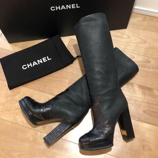 シャネル(CHANEL)の美品❤️ CHANEL ロングブーツ 38(ブーツ)