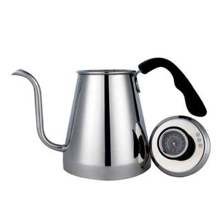 【人気★沸騰】ドリップポット 温度計付き コーヒーケトル ステンレスポット(電動式コーヒーミル)