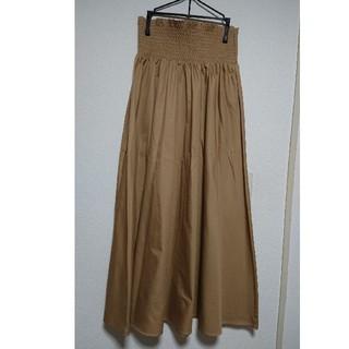 ジーユー(GU)のシャーリングフレアロングスカート(ロングスカート)