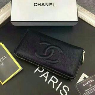 シャネル(CHANEL)のChanelシャネル極美品長財布ブラック(財布)