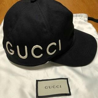 Gucci - 【超希少】GUCCI ロゴキャップ ブラック M/58