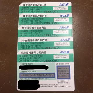 エーエヌエー(ゼンニッポンクウユ)(ANA(全日本空輸))のANA優待券 5枚セット(その他)