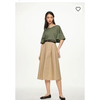 ジーユー(GU)のGU☆カラーフレアスカート(ロングスカート)