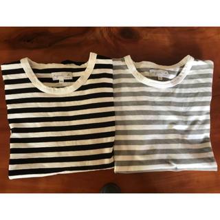 アニエスベー(agnes b.)の二枚セット アニエスベー ボーダー カットソー Tシャツ 半袖 (Tシャツ(半袖/袖なし))