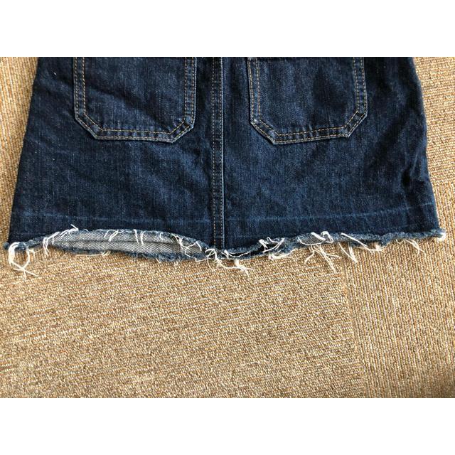 GU(ジーユー)のデニム ジャンパースカート 110 キッズ/ベビー/マタニティのキッズ服 女の子用(90cm~)(スカート)の商品写真