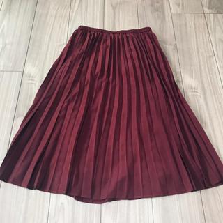 ジーユー(GU)のGU  プリーツスカート 美品(ロングスカート)