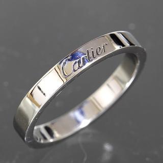 カルティエ(Cartier)のカルティエ cartier エングレーブド リング size57 pt950(リング(指輪))