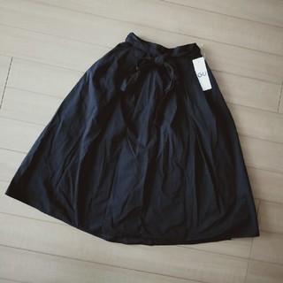 ジーユー(GU)のフレアスカート★黒★GU(ひざ丈スカート)