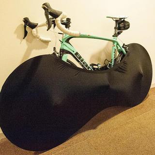 自転車 室内 カバー スパンデックス ブラック 黒 幅約200cm