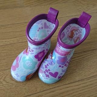 ディズニー(Disney)のcharm様専用 レインブーツ 紫 プリンセスソフィア 13.0cm 13 雨具(長靴/レインシューズ)