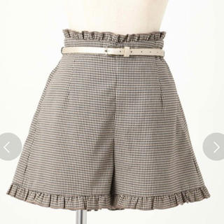 ナイスクラップ(NICE CLAUP)のNICE CLAUP ベルトアソート裾フリルショートパンツ(ショートパンツ)