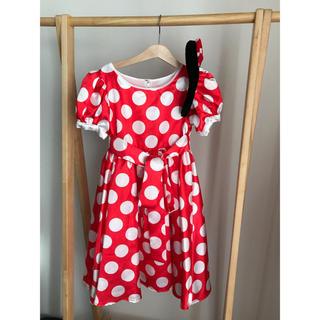 ディズニー(Disney)のミニーちゃんドレス(カチューシャ付き)(衣装一式)