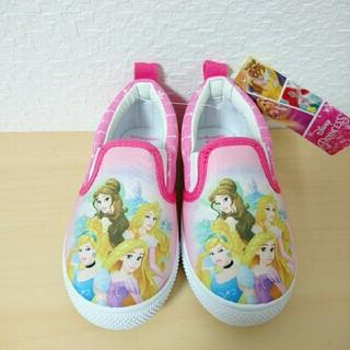 ディズニー(Disney)の新品★15cmプリンセススリッポン シューズ 靴(スリッポン)