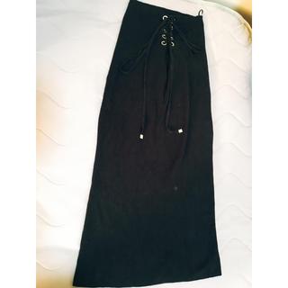 ジーユー(GU)のニットスカート(ロングスカート)
