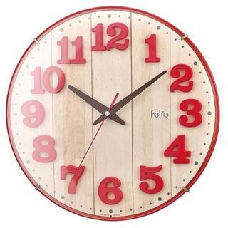 今だけ価格★レトロ感かわいい★ フェリオ 掛け時計 レッド(掛時計/柱時計)