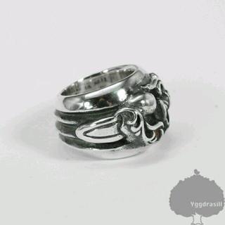 ダガー ハート シルバー リング 9号 sv925 ユニセックス 指輪 ペア(リング(指輪))