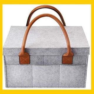 【人気★沸騰】おむつストッカー 蓋つき オムツ収納バッグ ベビー用品収納バッグ