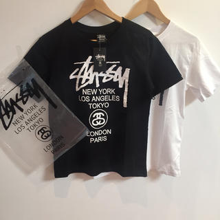 ステューシー(STUSSY)のSTUSSYサイズM黒白2点セット半袖Tシャツ(Tシャツ(半袖/袖なし))