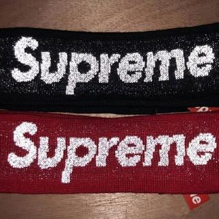 シュプリーム(Supreme)のSupreme ヘアバンド 黒と赤 二本セット(その他)