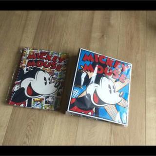 ディズニー(Disney)のDisneySTORE☆ノート&バインダー☆未使用+おまけ(ファイル/バインダー)