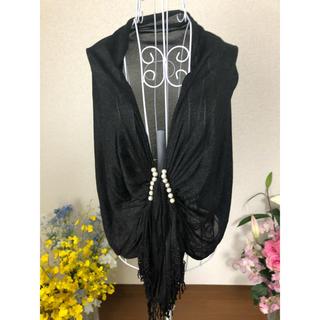 ストール 黒 パーティ ドレス 美品(ストール)