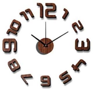 【送料無料】 おしゃれ ウォールクロック DIY ブラウン(掛時計/柱時計)