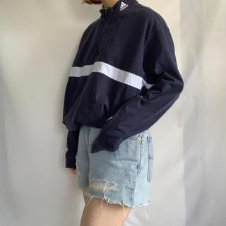 adidas - adidas ハーフジップ長袖TEE