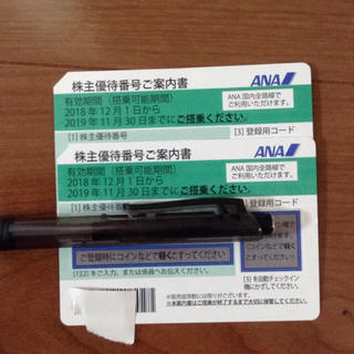 エーエヌエー(ゼンニッポンクウユ)(ANA(全日本空輸))のANA株主優待券 2枚 (航空券)