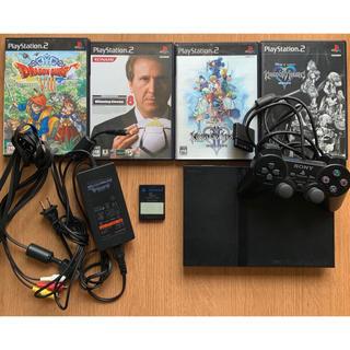プレイステーション(PlayStation)のPlay station 2 本体 コントローラー カセット4つ(家庭用ゲーム本体)
