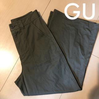 ジーユー(GU)のGU ベイカーワイドパンツ  カーキ(カジュアルパンツ)